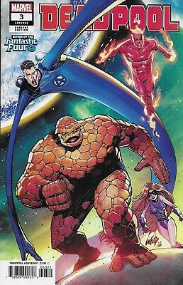 Deadpool Comic Issue 3 Limited Fantastic Four Variant Modern Age First Print