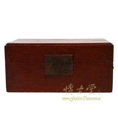 Antique Chinese Red Lacquered Jewelry, Treasures Box