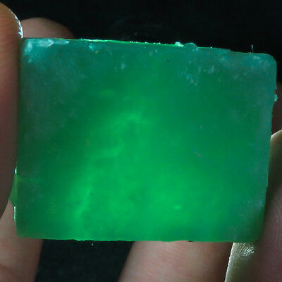 107CT Natural Mozambique Green Blue Amazonite Facet Rough Specimen YAS847
