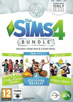 The Sims 4 Outdoor Retreat 2 Stuff Packs Bundle Pack PC Game 12+ Years