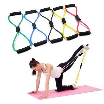 8-Shaped Resistance Training Bands Rope Tube Workout Stretch Exercise Yoga 1Pcs