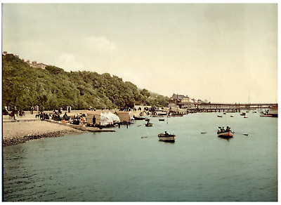 Southend-on-Sea. Pier and Bathing Place looking East. PZ vintage photochromie,