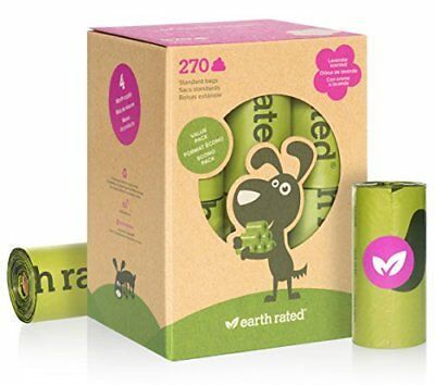 Earth Rated - Pack de bolsas p(18 Rollos (270 unidades) Olor a Lavanda)