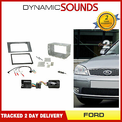 CT23FD09 Double Din Silver Fascia Fitting Kit For Ford Mondeo 2007/> #