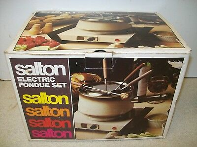 Vintage Salton Electric Fondue Set Type 5403 - New, Unused & Boxed
