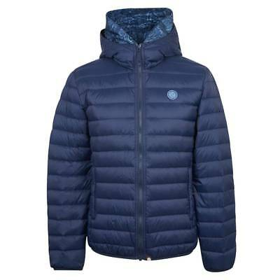Pretty Green Men's Lightweight Quilted Hooded Jacket | Navy