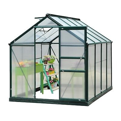 Outsunny 6' x 8' x 7' Polycarbonate Portable Walk-In Garden Greenhouse