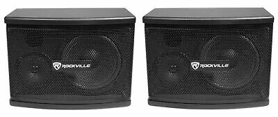 "Pair Rockville KPS65 6.5"" 2-Way 400 Watt Karaoke Speakers+Wall Brackets / MDF!"