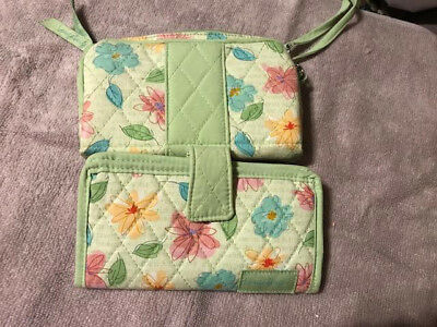 Longaberger Floral Blooms Wallet and Cosmetic Case - New without tags