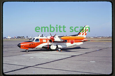 Original Slide, Japan JASDF Flight Check Squadron Mitsubishi MU-2J, in 1975