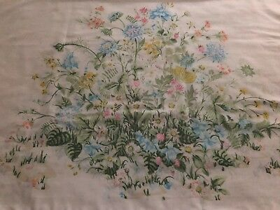 Vintage King Size Floral Pillowcases Set of 2 PEQUOT No Iron Percale WILDFLOWERS