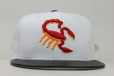 06688eb9d8b Scottsdale Scorpions White Black Red Gold MiLB New Era 59Fifty Fitted Hat  Cap