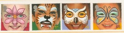 Collectible Great Britain 2001 Millennium Stamps:Painted Faces:Butterfly, Owl