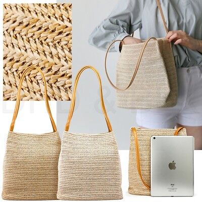 Women Straw Beach Bag tote Shoulder Bag Summer Handbag