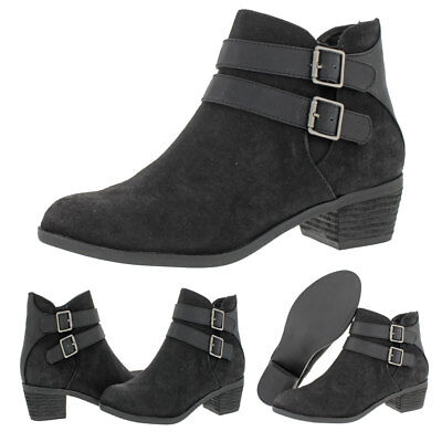 Madden Girl by Steve Madden Kest Women's Faux Suede Block Heel Ankle Boots Shoes