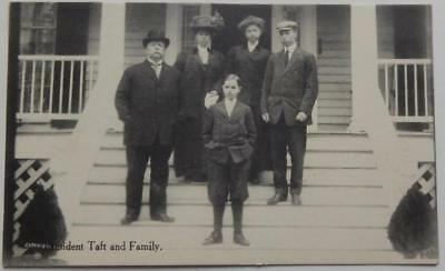Antique Photo Postcard President William Howard Taft and Family