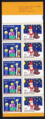 Sweden Booklet 1972 Christmas SB278 711a  Complete Mint