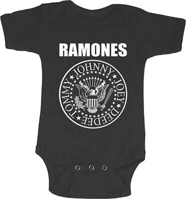The Ramones-Classic Seal Logo-Infant's 12 Month- Creeper Shirt