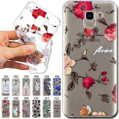For Samsung Galaxy J6(2018) Painted TPU Soft Skin Case Rubber Silicone Gel Cover