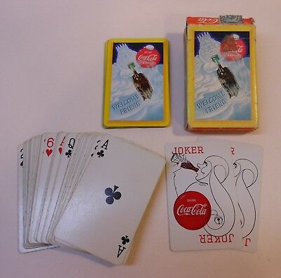"""Vintage Coca Cola 1958 """"Welcome Friend"""" Deck of Playing Cards"""