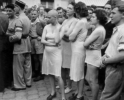 ww2 photo wwii french female collaborators punished world war two