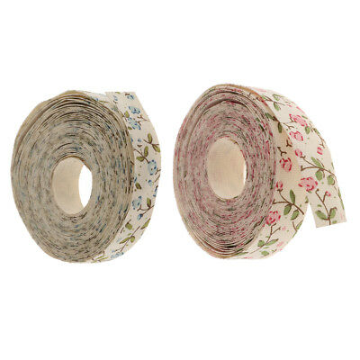 5 Yards 15mm Flower Design Cotton Ribbon DIY Sewing Material Gift Package Trim