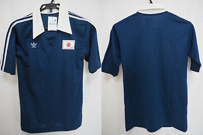 1980s Japan National Team Samurai Blue JFA Vintage Retro Polo Shirt Adidas L NWT