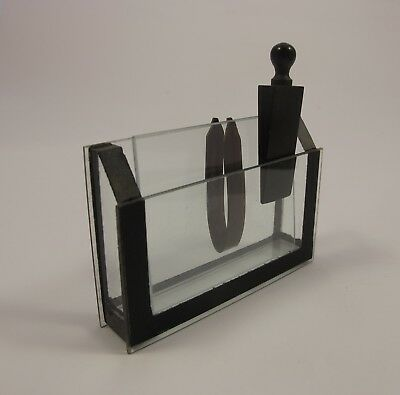 R & J Beck.  Large Glass trough with Wedge & Spring Complete.  Microscope slide.