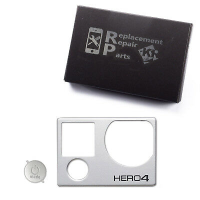 Front Cover Faceplate Frame w/ Power Button Parts for GoPro Hero 4 Black/Silver