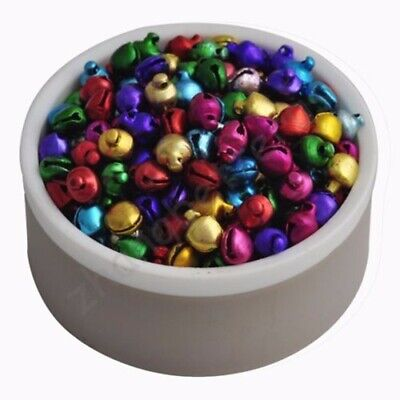 200 Pcs Colorful Loose Beads Christmas Jingle Bells Christmas Party Charm Craft