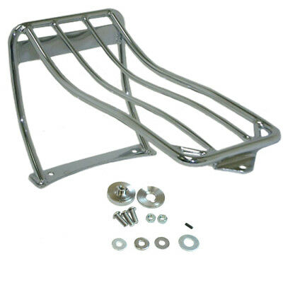 Chrome Bobtail Fender Luggage Rack for 2000-05 Harley Softail FXST, FXSTS, FXSTB