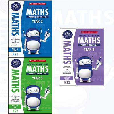 National Curriculum Maths Practice Book for Year 2 3 4 Collection 3 Books Set