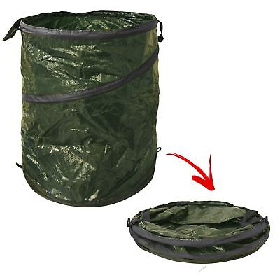 Pop Up Garden Waste Bin Robust Carry Handle Leaves Grass Weed Allotment Tidy Bag