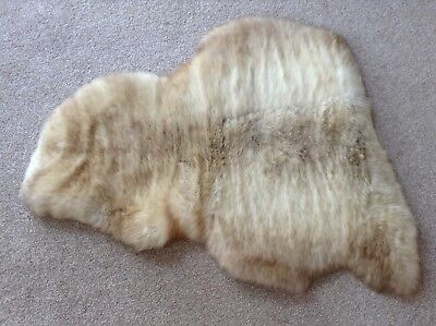 Genuine Sheepskin Rug - Mix Of Caramel And Tan And Cream (Small)