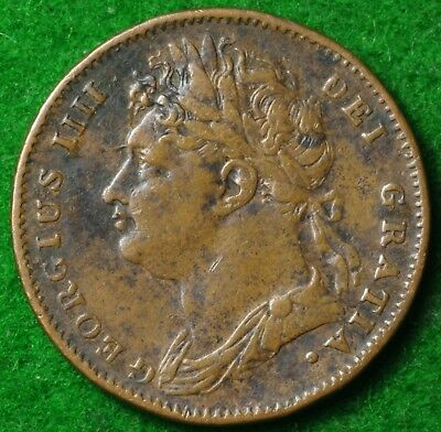 1822 George IV Farthing in Reasonable collectable condition  FREE UK POSTAGE