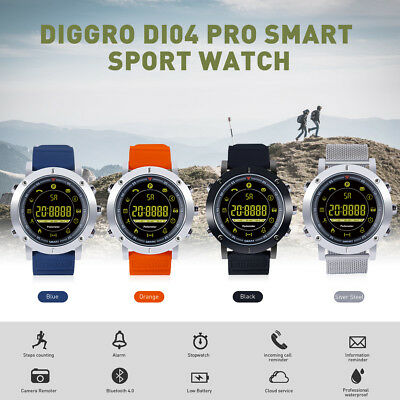 Diggro DI04 Pro Sport Smart Watch Waterproof Pedometer Reminder For Android IOS
