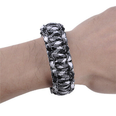 Military Camouflage Rope Bracelet Outdoor Paracord Survival Disaster-Escape Tool