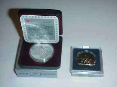 1992 Canadian Silver Proof Dollar And Unc Dollar