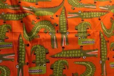 Boys Pajama Lounge Pants Shorts or Capri ALLIGATOR CROCODILE Orange 0-3 to 4T 5T
