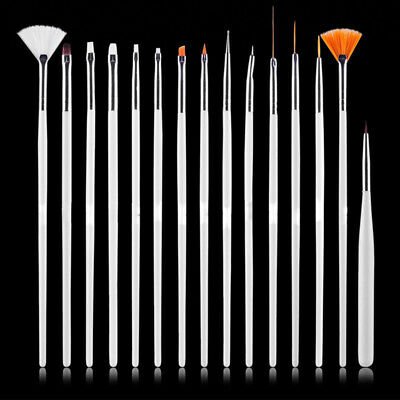 4-Color 15pcs Nail Art Decorations Brush Set Tools DIY Painting Pen Nail Tips