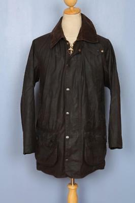 Mens BARBOUR Beaufort Waxed Jacket Brown Size 38