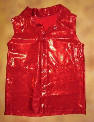 NWOT Sleeveless tank shirt Boys//Mens Sizes Red Black Dance Hiphop Lycra