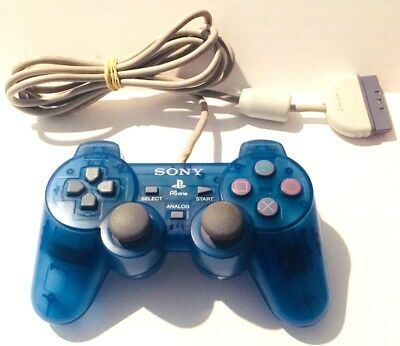 Official OEM Sony Playstation 1 PS1 PSone Dual Shock Controller Blue SCPH-110