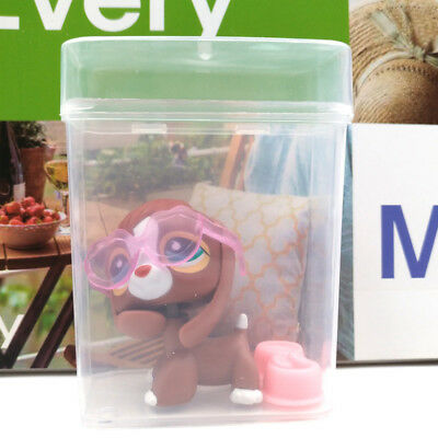 Littlest Pet Shop #849 Girl Brown Red Green Eyes Beagle Dog Accessories LPS Toys