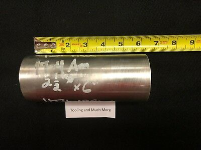"""2.500"""" round 17-4 stainless  ROD/BAR  6.00"""" long   Lathe or milling Stock"""