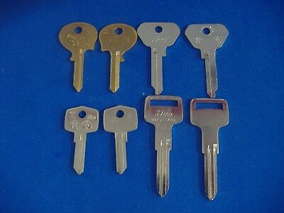 Lot Of Eight Piece Classic Volvo Key Blanks Locksmith Vintage Auto