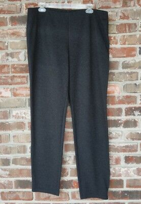 NWT XL EILEEN FISHER charcoal cozy viscose stretch Straight Leg pants
