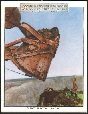 Giant Electric Excavator Shovel Heavy Equipment c80 Y/O Trade Ad Card