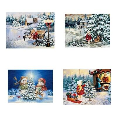 5D Xmas Christmas Diamond Embroidery Painting Cross Stitch Home Decor Gifts