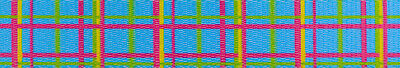 Country Brook Design® 1 Inch Spring Blue Plaid Polyester Webbing, 50 Yards